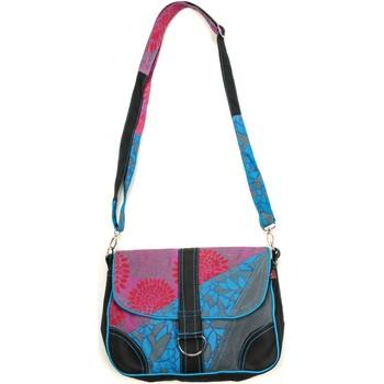 Borse Donna Bisacce Bamboo's Fashion Petit Sac Besace Prague GN-144 Bleu/Gris Multicolore