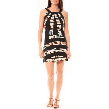 Abbigliamento Donna Abiti corti Bamboo's Fashion Robe BA1532 Écru/Noir Nero