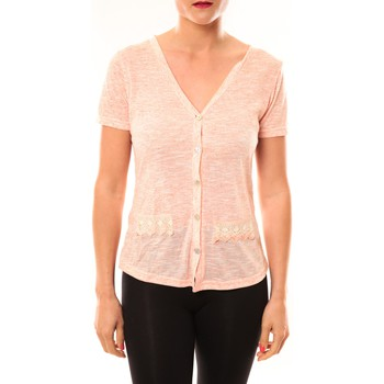 Abbigliamento Donna Gilet / Cardigan Meisïe Top 50-608SP15 Corail Arancio