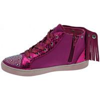 Scarpe Bambina Sneakers alte Lulu Frangetta Mix Sportive alte fuxia