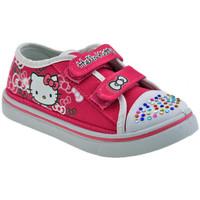 Scarpe Unisex bambino Sneakers basse Hello Kitty Strass Girl Sportive basse fuxia