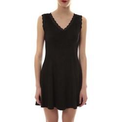 Abbigliamento Donna Abiti corti Vera & Lucy Robe suedine Noir R 6229 Nero