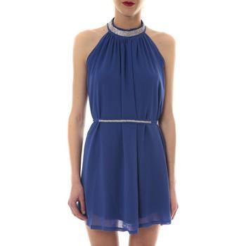 Abbigliamento Donna Abiti corti Vera & Lucy Robe tour de cou col strass Bleu 6W1078A Blu