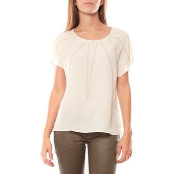 Abbigliamento Donna T-shirt maniche corte Vera & Lucy Top 2585 Écru Beige