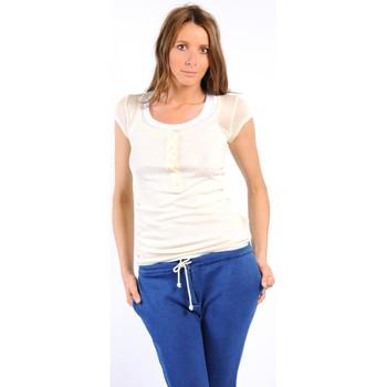 Abbigliamento Donna T-shirt maniche corte American Vintage TEE-SHIRT MAS05BIS NATUREL Bianco