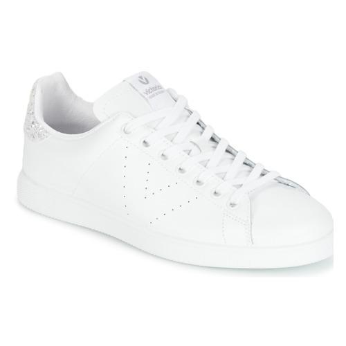 Scarpe Donna Sneakers basse Victoria DEPORTIVO BASKET PIEL Bianco / Argento