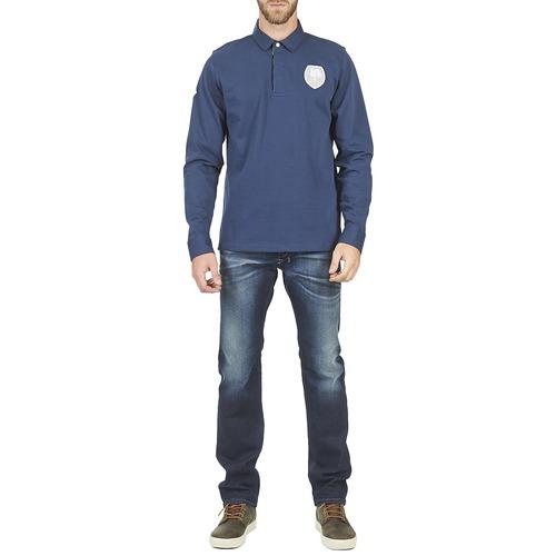Lunghe Polo Maniche Coq Ecusson Uomo Abbigliamento Consegna Blanco 6000 Gratuita Serge Marine PiklOXTwZu