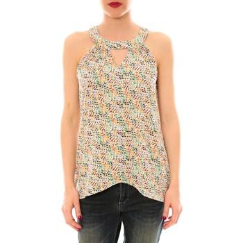 Abbigliamento Donna Top / T-shirt senza maniche Little Marcel Débardeur  Taos Blanc Imprimé Multicolore