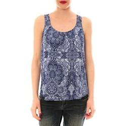 Abbigliamento Donna Top / T-shirt senza maniche Little Marcel Litlle Marcel Trevor Bleu Marine imprimé Blu