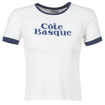 Abbigliamento Donna T-shirt maniche corte Loreak Mendian COTE BASQUE ECRU / MARINE