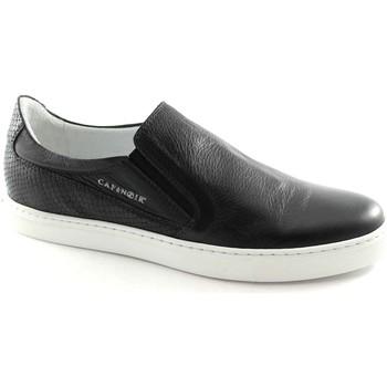Scarpe Café Noir  PG122 nero scarpe uomo slip on sneakers pelle elastici