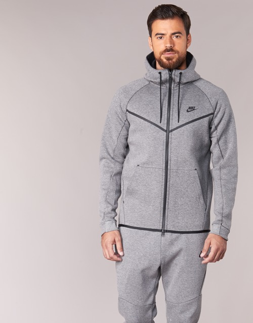 Abbigliamento Uomo Giubbotti Nike TECH FLEECE WINDRUNNER HOODIE Grigio