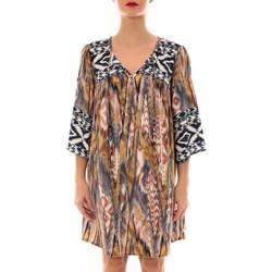 Abbigliamento Donna Abiti corti Jad Robe Fraco imprimé Bleu Jaune Multicolore
