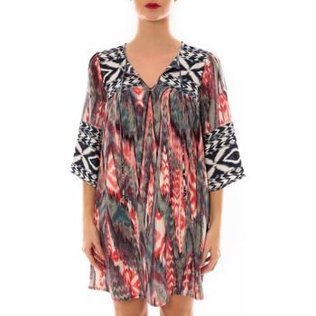 Abbigliamento Donna Abiti corti Jad Robe Fraco imprimé Rouge/Bleu Multicolore