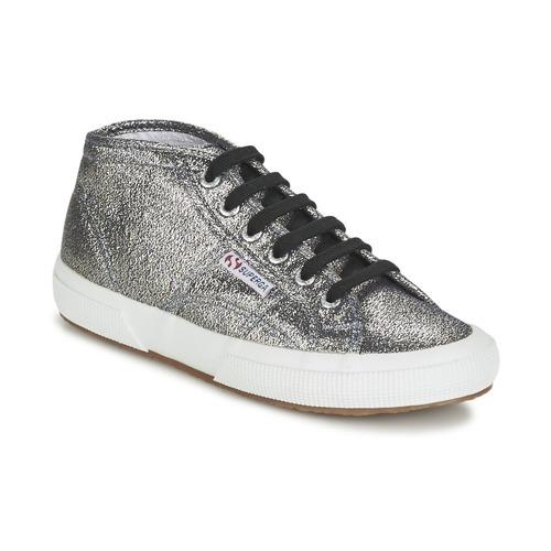 Superga 2754 LAMEW Argento  Scarpe Sneakers alte Donna 51,50