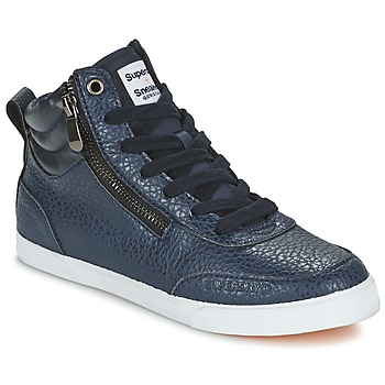Scarpe Donna Sneakers alte Superdry NANO ZIP HI TOP SNEAKER Blu