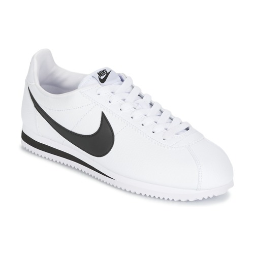 Nike CLASSIC CORTEZ LEATHER Bianco / Nero  Scarpe Sneakers basse Uomo 68