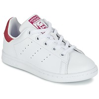 Scarpe Bambina Sneakers basse adidas Originals STAN SMITH EL C Bianco / Rosa