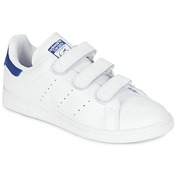 Scarpe Sneakers basse adidas Originals STAN SMITH CF Bianco / Blu