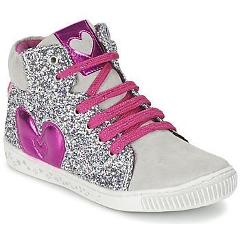 Scarpe Bambina Sneakers alte Agatha Ruiz de la Prada BUSOULI Argento