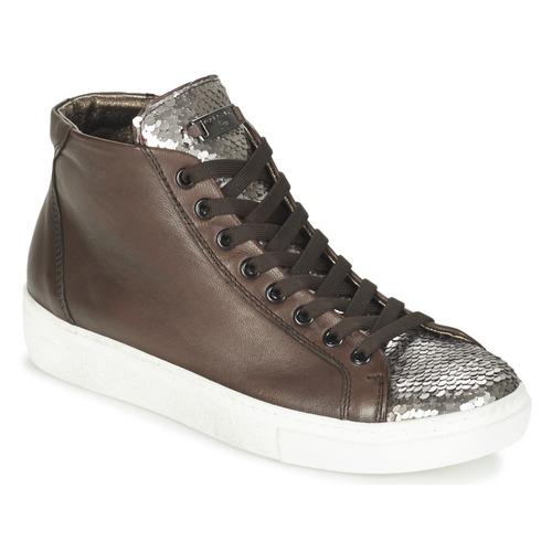 Tosca Blu ALEXA Marrone / Argento  Scarpe Sneakers alte Donna 84