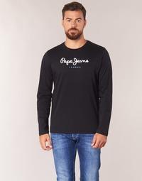 Abbigliamento Uomo T-shirts a maniche lunghe Pepe jeans EGGO LONG Nero