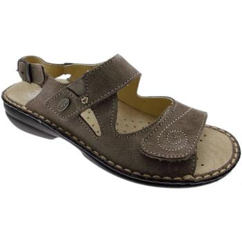 Scarpe Donna Sandali Loren M2595 sandalo taupe extra large ortopedico regolabile tortora