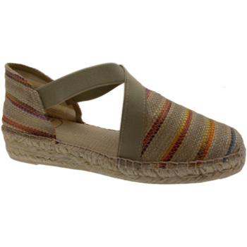 Sandali Toni Pons  scarpa sandalo chiuso corda beige natural righe  art EDEN animal