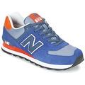 Scarpe Sneakers basse New Balance ML574 MARINE / Arancio