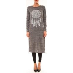 Abbigliamento Donna Abiti lunghi By La Vitrine Robe Plume gris Grigio
