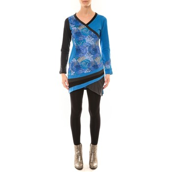 Abbigliamento Donna T-shirts a maniche lunghe Bamboo's Fashion Robe BW640 bleu Blu