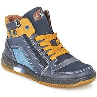 Scarpe Bambino Sneakers alte Primigi ADAM-E Blu / Giallo