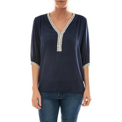 Abbigliamento Donna Top / Blusa Barcelona Moda Top Leny Marine Blu