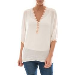 Abbigliamento Donna Top / Blusa Barcelona Moda Top Leny Blanc Bianco