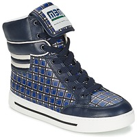 Scarpe Donna Sneakers alte Marc by Marc Jacobs CUTE KIDS MINI TOTO PLAID Blu / Multicolore