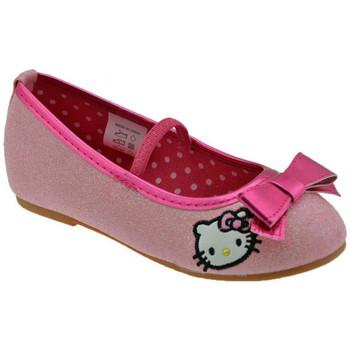 Scarpe Unisex bambino Ballerine Hello Kitty Glitter Fiocco Ballerine rosa