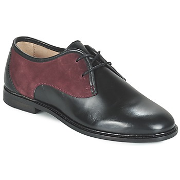 Scarpe Donna Derby M. Moustache EUGENIE Nero / BORDEAUX