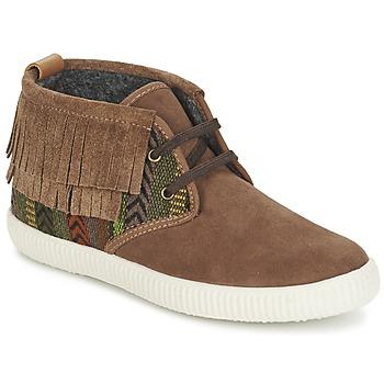 Scarpe Donna Sneakers alte Victoria SAFARI FLECOS ANTELINA ETNIC Marrone