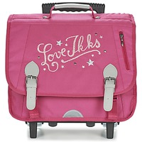 Borse Bambina Borse / Cartelle con rotelle Ikks LOVE IKKS TROLLEY CARTABLE 38CM Rosa