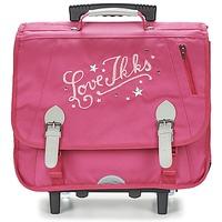 Borse Bambina Borse / Cartelle con rotelle Ikks LOVE IKKS TROLLEY CARTABLE 41CM Rosa