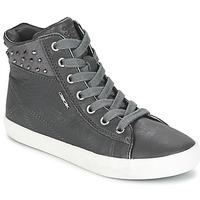 Scarpe Bambina Sneakers alte Geox KIWI GIRL Grigio