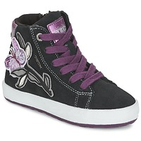 Scarpe Bambina Sneakers alte Geox WITTY Nero