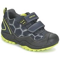 Scarpe Bambino Sneakers basse Geox NEW SAVAGE BOY Blu / Giallo