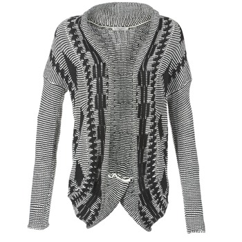 Abbigliamento Donna Gilet / Cardigan Teddy Smith GRANBY ECRU / Nero