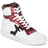 Scarpe Donna Sneakers alte Serafini SAN DIEGO Bianco / Rosso