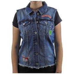 Abbigliamento Donna Giacche in jeans Only Catty Patch Denim Giubbini multicolore