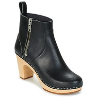 Scarpe Donna Stivaletti Swedish hasbeens ZIP IT SUPER HIGH Nero