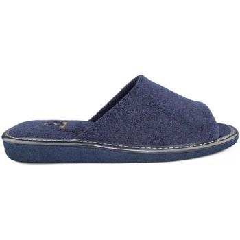 Scarpe Uomo Pantofole Vulladi SCARPE FERRO DA CASA  TOWEL MAN BLU