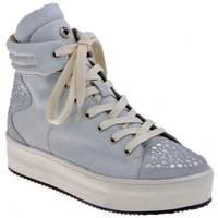 Scarpe Donna Sneakers alte Janet&Janet Platform Borchiata Mid Sportive alte bianco