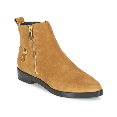 Kenzo TOTEM FLAT BOOTS Camel  Scarpe Stivaletti Donna 180